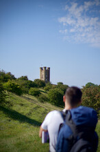 Broadway Tower On The Cotswold Way On A Sunny Day.