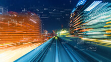 Technology Screen With Abstract High Speed Technology Motion Blur