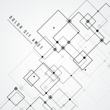 Vector Connections With Dots Lines Black White Background