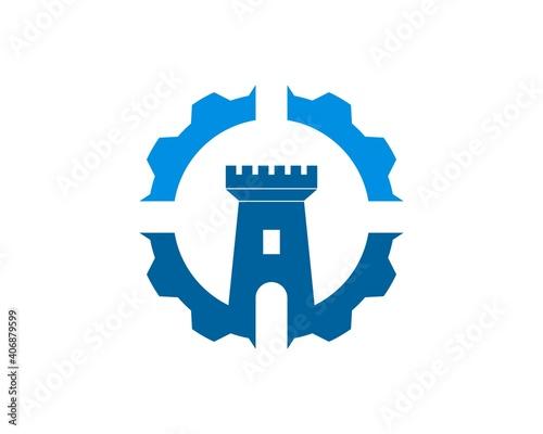 Fotografie, Tablou Repair Gear with fortress inside