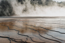 Grand Prismatic Hot Springs In Yellowstone National Park