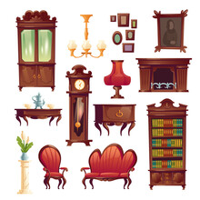 Victorian Living Room Stuff, Old Classic Furniture