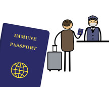 Immune Health Passport Control Immigration Airport