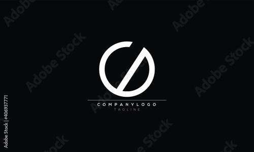 Obraz CD DC C AND D Abstract initial monogram letter alphabet logo design - fototapety do salonu