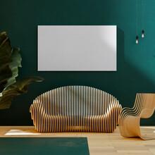 Wooden Furniture Interior Frame Mockup 3d Render
