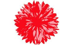 Corona Fiorita Rosso E Rosa Con Bianco