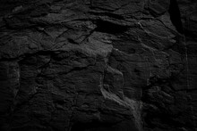 Black Rough Stone Wall Texture For Background Or Wallpaper