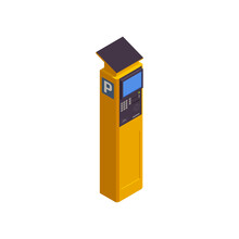 Parking Station Isometric Icon