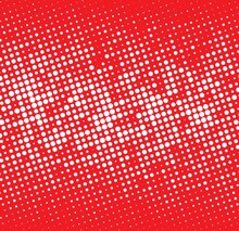 Red  Background With White Dots