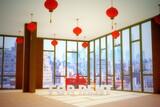 skycraper chinese office 3d illustration