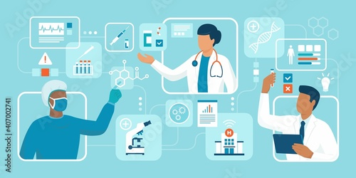 Obraz Innovative healthcare and medical research - fototapety do salonu