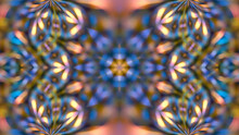 Abstract Multicolored Texture Kaleidoscope Background