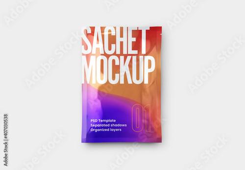 Obraz Sachet Mockup  - fototapety do salonu