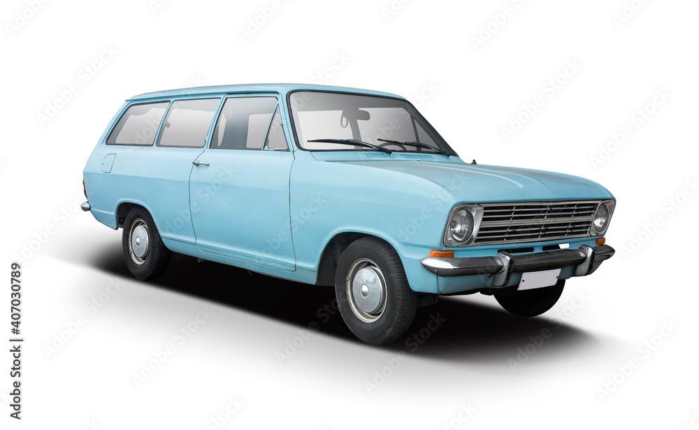 Fotografie, Obraz Classic German station wagon car isolated on white