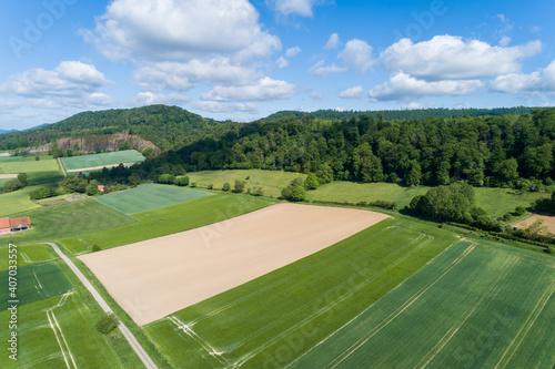 Luftaufnahme von einer ländlichen Gegend in Niedersachsen, Deutschland