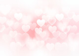 Hearts. Heart bokeh on pink color background for Valentine Day or for love scene or for Christmas festival or for wallpaper.