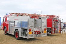 Vintage Red Fire Engines