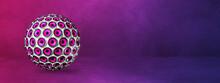 Speakers Sphere On A Purple Studio Banner