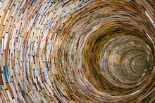 Wallpaper With Book Spiral Pattern