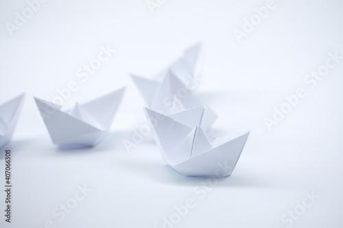 Fotografia, Obraz paper boats on the white