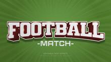Football Typography Premium Editable Text Effect