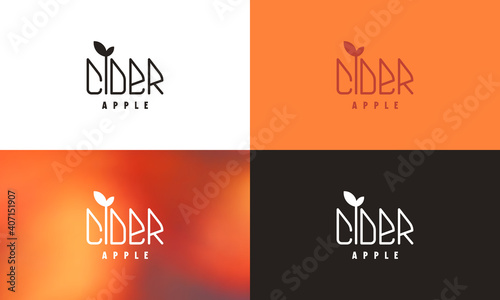 Canvastavla Apple cider emblem template