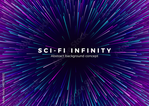 Fototapeta Sci-fi Universe infinity