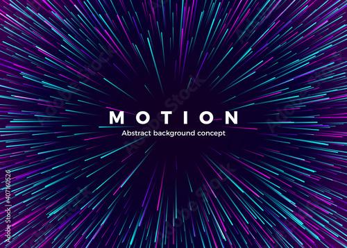 Obraz na plátne Sci-fi Motion wallpaper