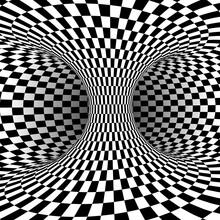 Black White Square Optical Illusion