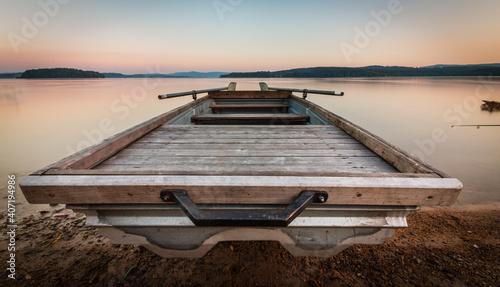 Fotografie, Obraz Lipno See in Tschechien am Abend