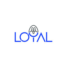 Illustration Vector Of Loyal Text Design With Dog