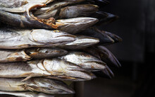 Dried Salty Fish On Market