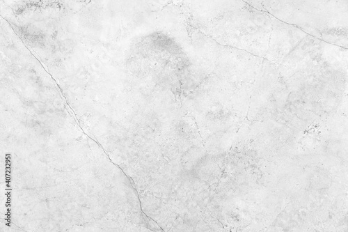 Fototapeta Cracked white stone marble wall texture and seamless background obraz