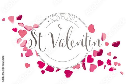Obraz French Valentines day hearts - fototapety do salonu
