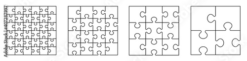 Fotografiet Puzzles grid - blank template