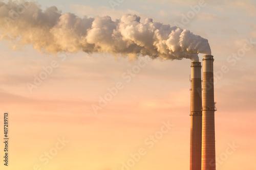 smoke from chimney Fotobehang