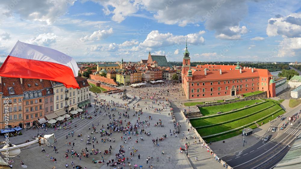 Fototapeta Warsaw, Poland - view of the city.