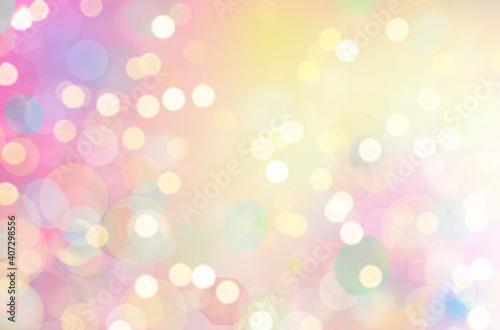 Slika na platnu Defocused abstract pink twinkle light background