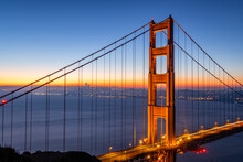 Daybreak Over San Francisco From Battery Spencer