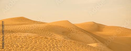 Fototapeta Beautiful golden sands dunes wide banner