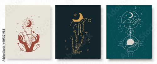 Fotografia, Obraz Boho doodle magic set