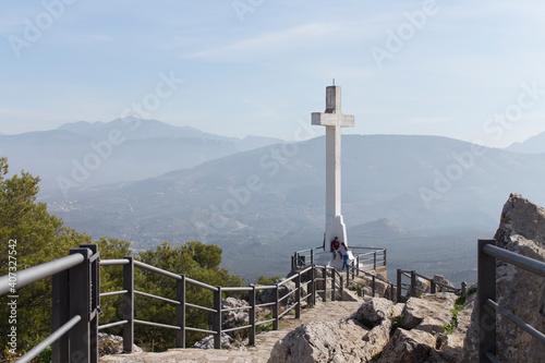 Photo Paisaje sobre el camino a la cruz.