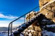 Treppe der Burg Hohengrundelfingen im Winter