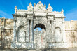 Detail view of main gate of the Dolmabahce Palace, Istanbul