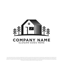 Building House Logo Vector With Rustic Or Vintage Style White Backgrounds
