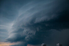 Toronto, GTA, Canada, Tornados And Hurricanes Cause Property Damage And Disruption In The Province.