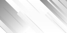 Technology Banner Design With White And Grey Arrows. Abstract Geometric Vector Background. Elegant White Background With Shiny Lines. Abstract White Square Shape With Futuristic Concept Background