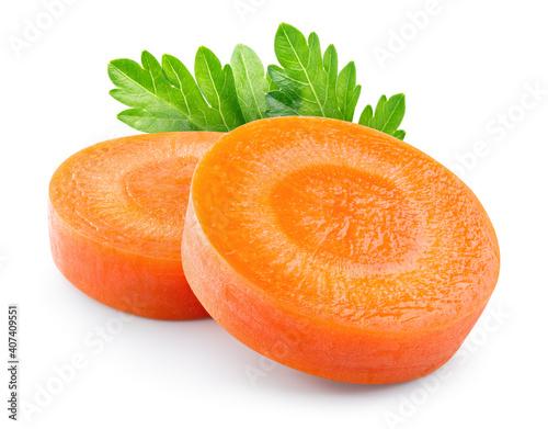 Obraz na płótnie Carrot slice