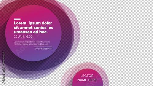 Social media event cover template for online webinar