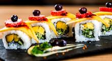 Strawberry Blueberry Sushi